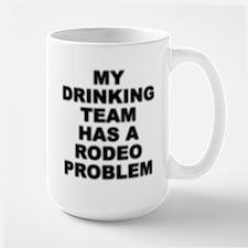 """""""Rodeo Problem"""" Large Mug Mugs"""