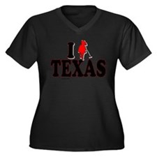 I (polo) Texas.png Women's Plus Size V-Neck Dark T