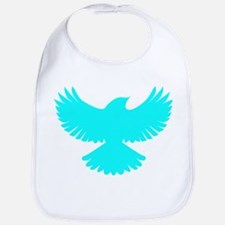 Robin Superhero Parody Blue Bird Bib