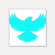 Robin Superhero Parody Blue Bird Square Sticker 3""
