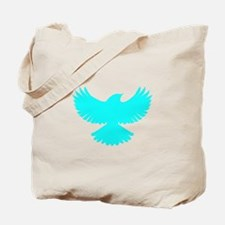 Robin Superhero Parody Blue Bird Tote Bag