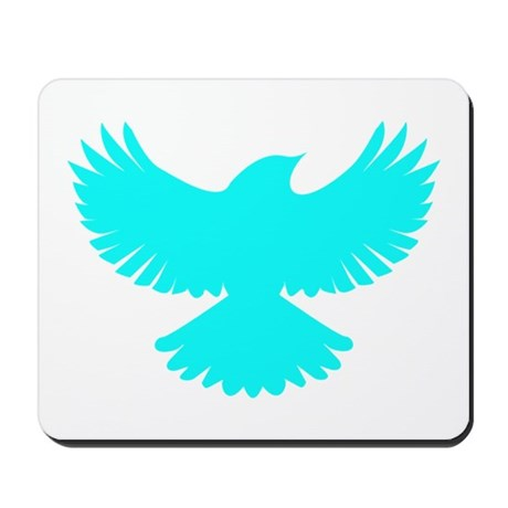Robin Superhero Parody Blue Bird Mousepad