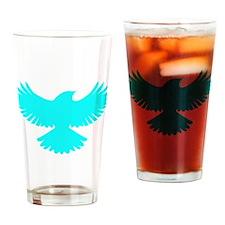 Robin Superhero Parody Blue Bird Drinking Glass