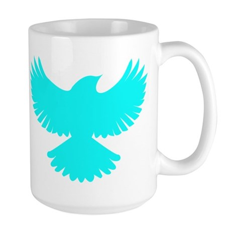 Robin Superhero Parody Blue Bird Large Mug
