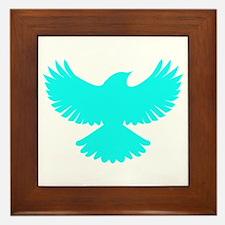 Robin Superhero Parody Blue Bird Framed Tile