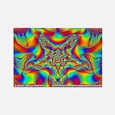 Fractal C~18 Rectangle Magnet