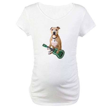 Pit Bull Ukulele Maternity T-Shirt