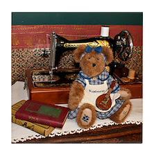 Bluebeary Bear with Mandolin Tile Coaster