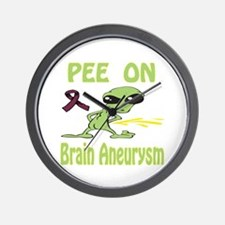 Pee on Brain Aneurysm Wall Clock