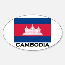 Cambodia Flag Stuff Oval Decal