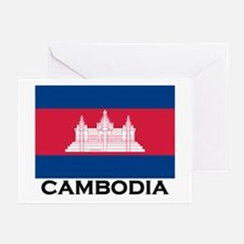 Cambodia Flag Stuff Greeting Cards (Pk of 10)