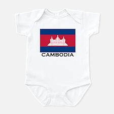 Cambodia Flag Stuff Infant Bodysuit