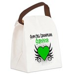 SCT Survivor Grunge Heart Canvas Lunch Bag
