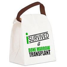 isurvivedabmttransplantgreen2.png Canvas Lunch Bag