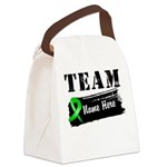 Personalize I Wear Green Canvas Lunch Bag