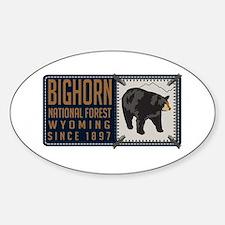 Bighorn Black Bear Badge Decal