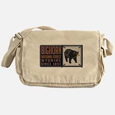 Bighorn Black Bear Badge Messenger Bag