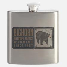 Bighorn Black Bear Badge Flask