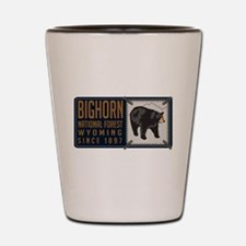 Bighorn Black Bear Badge Shot Glass
