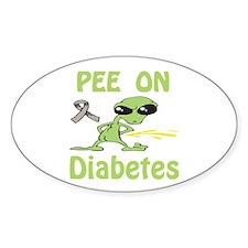 Pee on Diabetes Decal