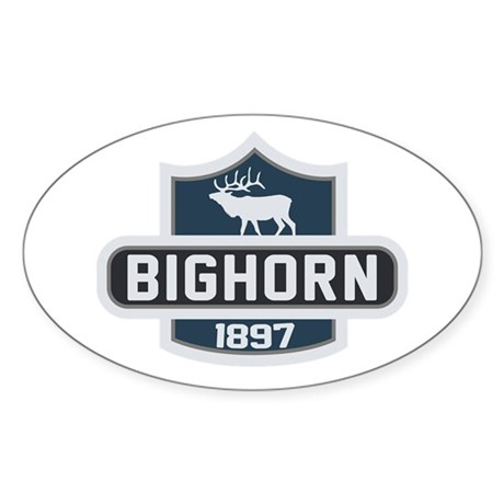 Bighorn Nature Badge Sticker (Oval)