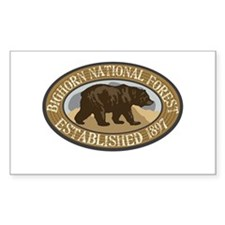 Bighorn Brown Bear Badge Decal
