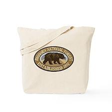 Bighorn Brown Bear Badge Tote Bag