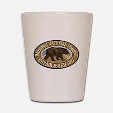 Bighorn Brown Bear Badge Shot Glass