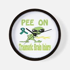 Pee on Traumatic Brain Injury Wall Clock