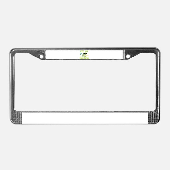 Pee on Traumatic Brain Injury License Plate Frame