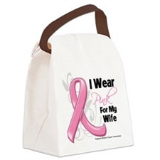 I Wear Pink For My Wife Canvas Lunch Bag