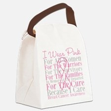 Pink For All Women Canvas Lunch Bag