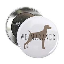 Weimaraner Greytones Button