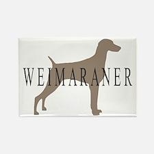 Weimaraner Greytones Rectangle Magnet
