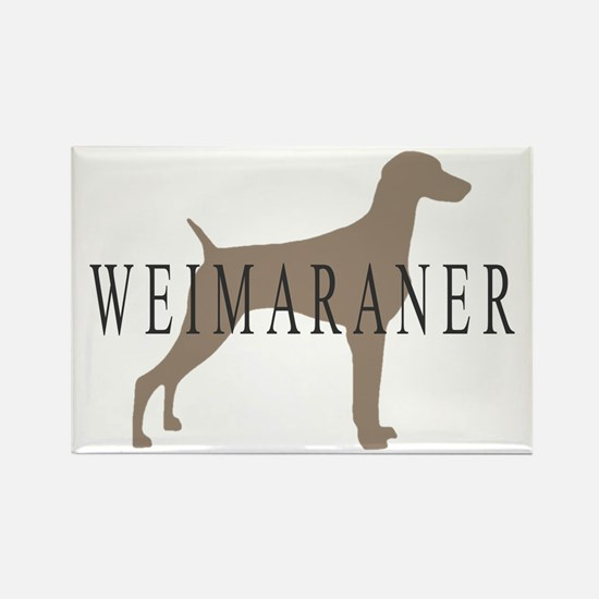 Weimaraner Greytones Rectangle Magnet