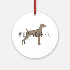 Weimaraner Greytones Ornament (Round)