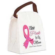 I Wear Pink Ribbon Breast Cancer Mom.png Canvas Lu