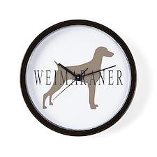 Weimaraner Greytones  Wall Clock