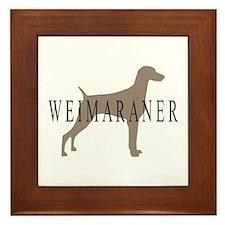 Weimaraner Greytones Framed Tile
