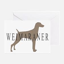 Weimaraner Greytones Greeting Cards (Pk of 10