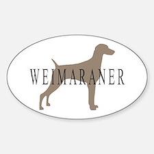 Weimaraner Greytones Oval Decal