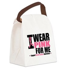 plainiwearpinkXFORME.png Canvas Lunch Bag