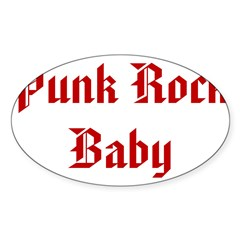 Punk Rock Baby Oval Decal