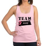Breast cancer personalize add image Womens Racerback Tanktop