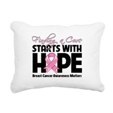 Breast Cancer Finding a Cure Rectangular Canvas Pi
