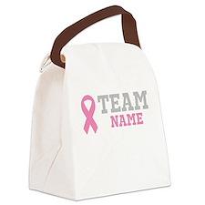 Custom Team Breast Cancer Canvas Lunch Bag