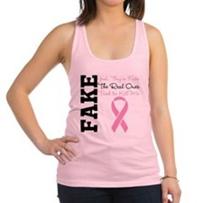 Fake Breast Cancer Racerback Tank Top