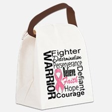 Warrior Breast Cancer Canvas Lunch Bag