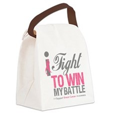 I Fight To Win Breast Cancer Canvas Lunch Bag