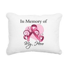 In Memory Hero Breast Cancer Rectangular Canvas Pi